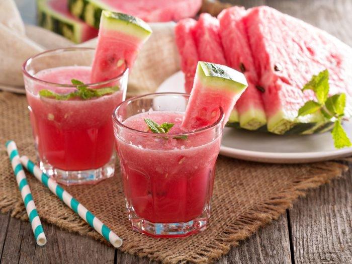 suco detox de melancia