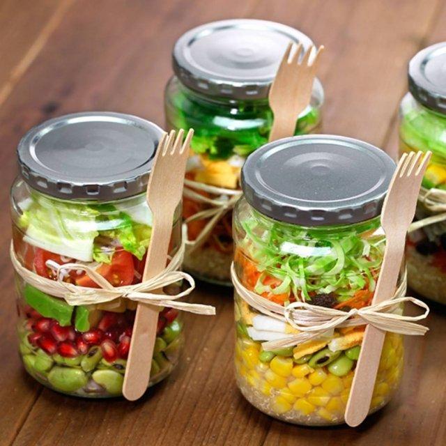 salada no pote fit