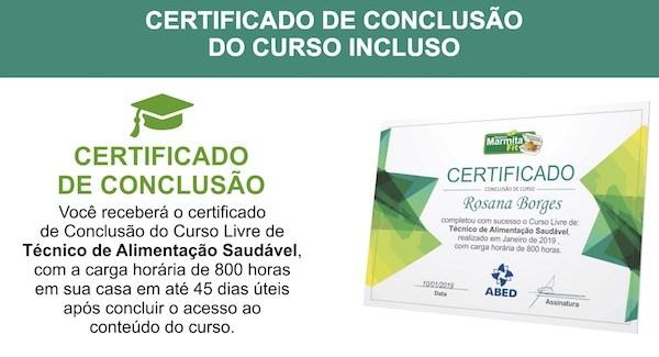 curso marmita fit certificado