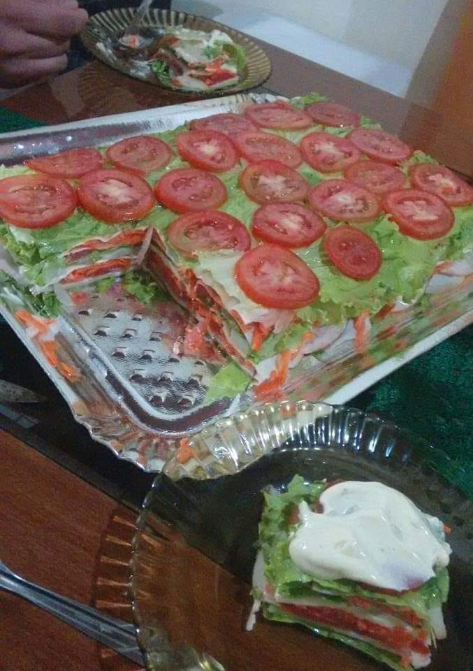 lasanha de salada