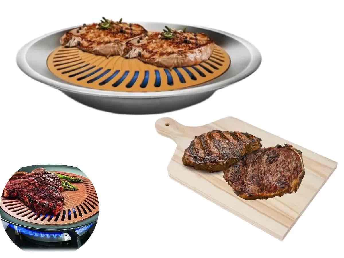 Quer comer carne grelhada e suculenta na casa ou apartamente? Veja essa dica e Asse um churrasco em casa sem churrasqueira