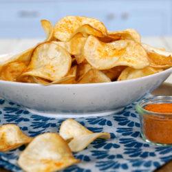 chips de mandioca light